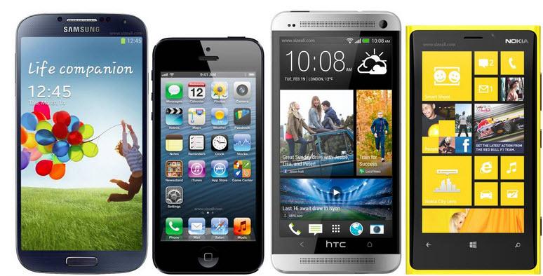 4 TELEPHONES MOBILES